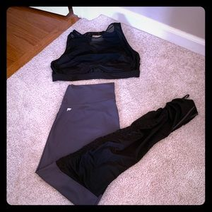 Fabletics high impact sports bra and pants size XL